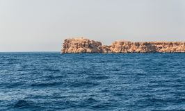 Sinai mountains and picturesque landscapes of the red sea in Egypt. Boat trip on the red sea stock images
