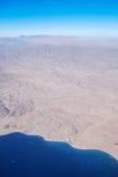 Sinai Peninsula from the bird's-eye view Stock Image