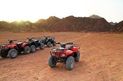 Sinai quad trip. Quad trip in Sinai mountains - Egypt Royalty Free Stock Image