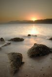 Sinai-Sonnenuntergang über dem Roten Meer Stockfotografie
