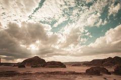 Sinai-Wüstenlandschaft lizenzfreies stockbild