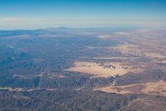 Sinai woestijn, bergen en hemelen Royalty-vrije Stock Fotografie