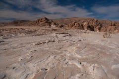Sinai woestijn met zand en zon onder blauwe hemel in december Royalty-vrije Stock Afbeelding