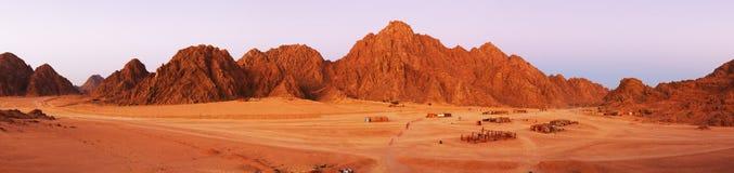Sinai woestijnlandschap stock afbeelding