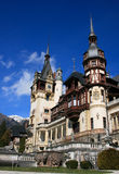 sinaia Румынии peles замока импрессивное Стоковые Фотографии RF