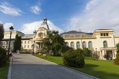 Sinaia casino. Main alley leading to Sinaia casino, Romania Royalty Free Stock Photography