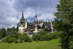Sinaia Castle, Romania. Peles Castle is considered by many as one of the most beautiful castles in all Europe. It was the final resting place for several Royalty Free Stock Photos