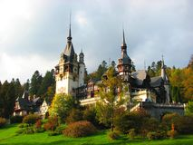Sinaia castle, Romania, Europe Royalty Free Stock Photo