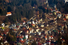 Sinaia city. The mountain city, Sinaia, from Brasov county Royalty Free Stock Photography