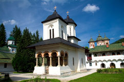 Sinaia Monastery. The Old Church of Sinaia Monastery, in Sinaia, Prahova County, Romania. The Monastery was founded by Mihail Cantacuzino in 1695 and named after royalty free stock photo