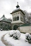 Sinaia Monastery. A winter scene of the Sinaia Monastery, Sinaia, Romania royalty free stock photography