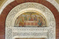 Sinaia Monastery. Architectural detail at the Sinaia Monastery, a monastery located in Romania stock images