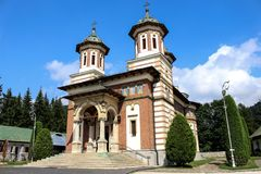Sinaia Monastery. The Sinaia Monastery, located in Sinaia, in Prahova County, Romania, was founded by Prince Mihail Cantacuzino in 1695 and named after the great Stock Images