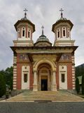 The Great Church, Sinaia Monastery. The Sinaia Monastery, located in Sinaia, in Prahova County, Romania, was founded by Prince Mihail Cantacuzino in 1695 and Stock Photo