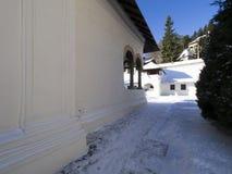 Sinaia Monastery. The Old Church of Sinaia Monastery, in Sinaia, Prahova County, Romania. The Sinaia Monastery was founded by Prince Mihail Cantacuzino in 1695 royalty free stock photography