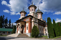 Sinaia Monastery, Romania. The Sinaia Monastery was founded in 1695, in Prahova Valley and named after the great Sinai Monastery on Mount Sinai. Situated in the royalty free stock photo