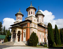 Sinaia Monastery, Romania. The Sinaia Monastery was founded in 1695, in Prahova Valley and named after the great Sinai Monastery on Mount Sinai. Situated in the royalty free stock images