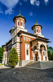 Sinaia Monastery, Romania. Sinaia Monastery, built in 1695, Prahova Valley, and named after Mount Sinai. Picturesque religious landmark of Romania Royalty Free Stock Images