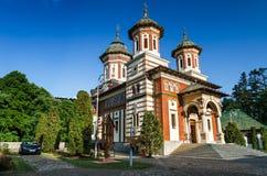 Sinaia Monastery, Romania. Sinaia Monastery, built in 1695, Prahova Valley, and named after Mount Sinai. Picturesque religious landmark of Romania Stock Photo