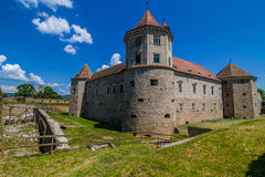 Medieval castle Fagaras, Romania Stock Images