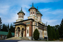 Sinaia Monastery. Romania, a place of peace and tranquility royalty free stock image
