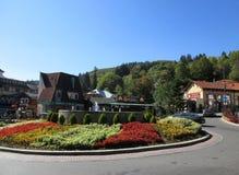 Sinaia RO, 30 september: De stad in van Sinaia-toevlucht in Roemenië Royalty-vrije Stock Afbeelding
