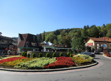 Sinaia RO, september 30th: Downtown from Sinaia resort in Romania Royalty Free Stock Image