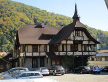 Sinaia RO, september 30th: Old House from Sinaia resort in Romania Royalty Free Stock Images