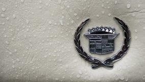 SINAIA, ROMÊNIA - 30 DE JUNHO DE 2018: Emblema do eldorado 1978 de Cadillac Fotos de Stock