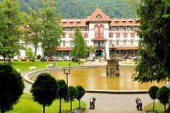 Sinaia, Romania. June 25, 2015. View of old traditional Romania architecture in royalty free stock photography