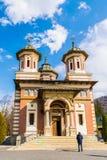 Sinaia, Romania - March 09, 2019: Front view of Sinaia Monastery located in Sinaia, Prahova county, Romania.  stock photos