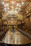 The interior of the Peles castle in Sinaia, in Romania Stock Photos