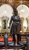 The statue in the inner room of the Peles castle in Sinaia, in Romania Stock Photos