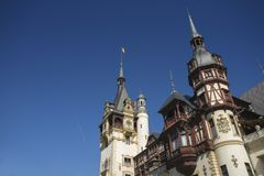Peles castle in Romania Royalty Free Stock Photos