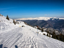 Sinaia sky track Royalty Free Stock Photo