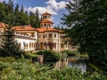 Sinaia sunshine. Elegant architecture of Sinaia Romania Royalty Free Stock Photography