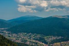 Sinaia vu de l'observatoire Image stock