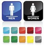 Sinais 2 do banheiro ilustração stock