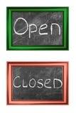 Sinais abertos e fechados Imagens de Stock