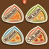 Sinais ajustados do vetor para a pizza italiana Fotografia de Stock Royalty Free