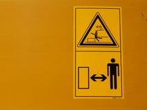 Sinais amarelos do perigo Foto de Stock Royalty Free