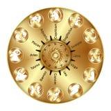 Sinais astrológicos do zodíaco Fotos de Stock Royalty Free