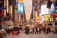 Sinais bondes em Broadway NY Fotografia de Stock Royalty Free