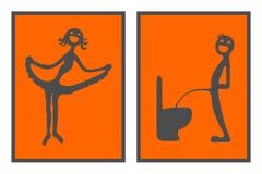 Sinais de Toilette Fotografia de Stock Royalty Free