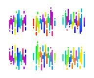 Sinais coloridos abstratos do inclinação para seu projeto Ícones da velocidade ajustados ilustração royalty free