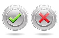 Sinais da aprovação e do erro Imagens de Stock Royalty Free