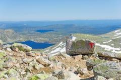 Sinais da associação Trekking norueguesa fotografia de stock