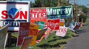 Sinais da campanha Imagem de Stock Royalty Free