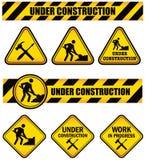 Sinais da construção ilustração stock