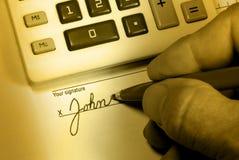Sinais da corça de John Imagem de Stock